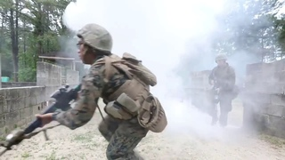 US Marines Urban Close Quarter Combat Military Training