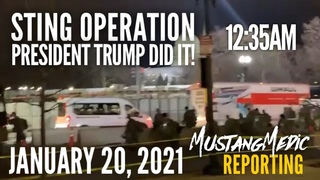 Part 1 Breaking News Live at the US Capital January 20 2021 Operation MustangMedic Reporting