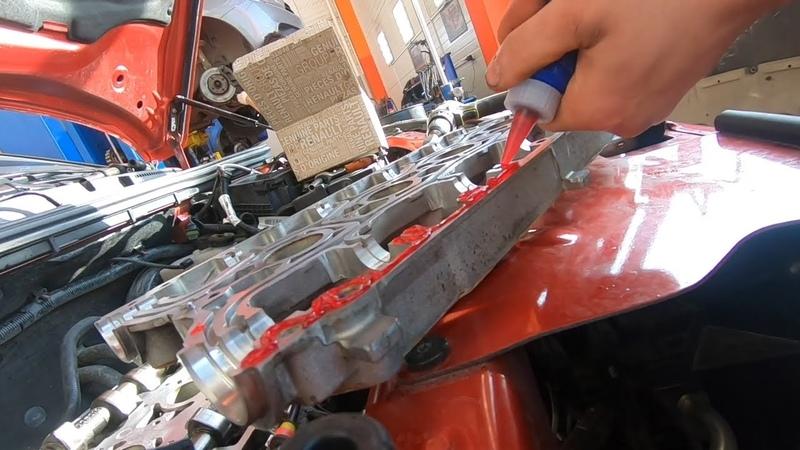 Переклейка постели распредвалов и масло в свечных колодцах Lada Vesta