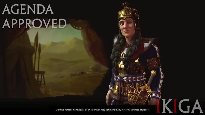 SCYTHIA - QUEEN TOMYRIS THE WONDER WOMAN ALL VOICED QUOTES DENOUNCE - CIVILIZATION VI - CIV VI