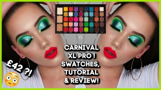 BPERFECT x STACEY MARIE MUA CARNIVAL XL PRO SWATCHES, TUTORIAL + REVIEW!   MAKEMEUPMISSA