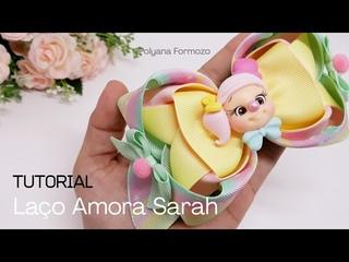 LAÇO Amora Sarah | DIY | Ribbon Bow Hair - By Polyana Formozo