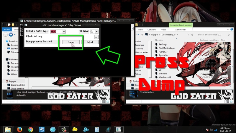 Wii U Tutorial How to Create Backup NAND SEEPROM and OTP with sdio NAND Manager Easy