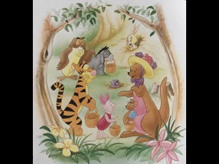 Easter with Winnie the Pooh and his friends