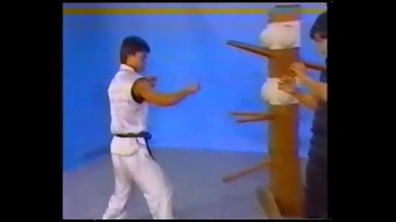 Чой Ли Фут Тренировка с манекеном Тат Мау Вонг