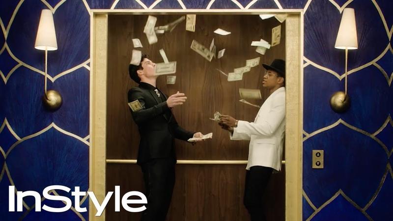 Jake Picking Jeremy Pope 2020 Golden Globes Elevator InStyle