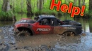 Desert Racer Stuck in a Mud BOG - Best RC Car day out EVER Traxxas UDR