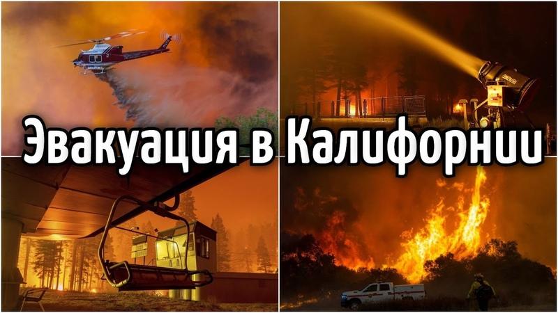 Пожар в Калифорнии Массовая эвакуация 31 августа 2021 Катаклизмы климат боль земли