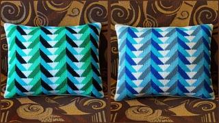 Подушка тунисским крючком с узором елочки. Часть 1. Crochet pillow. Part 1