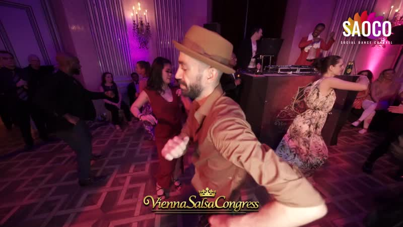 Panagiotis Aglamisis and Joanne Lin Salsa Dancing at Vienna Salsa Congress 2019 Saturday 07 12 2019