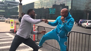 Jon Jones and Anderson Silva Sparring