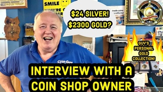 Interview with a Coin Shop Owner. Guy's personal gold collection and $24 silver!