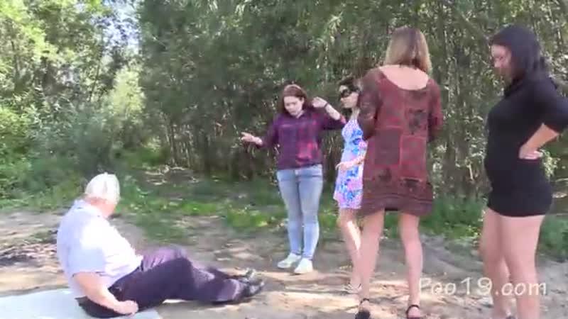 Русские девчонки срут в рот мужику на природе 2 Copro porno