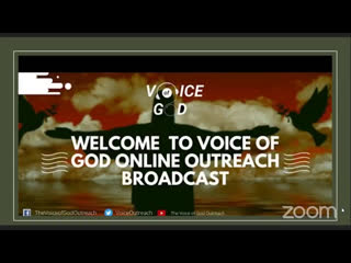 JOIN US ONLINE FOR | THE VOICE OF GOD OUTREACH | SATURDAY SEPT, 12TH 2020 | FROM 12MID NIGHT-12:45AM