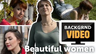 Background video with beautiful women part 1