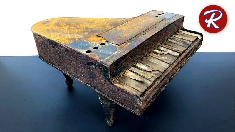 Реставрация старинного фортепиано найденного в амбаре