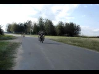 Трюки на советских мотоциклах.