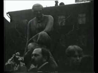 Сергей Есенин на открытии памятника А. В. Кольцову в Москве