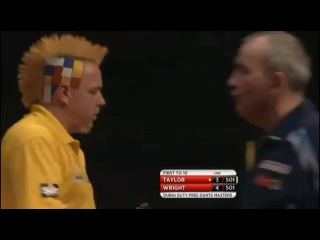 Phil Taylor vs Peter Wright (2014 Dubai Duty Free Darts Masters / Quarter Final)