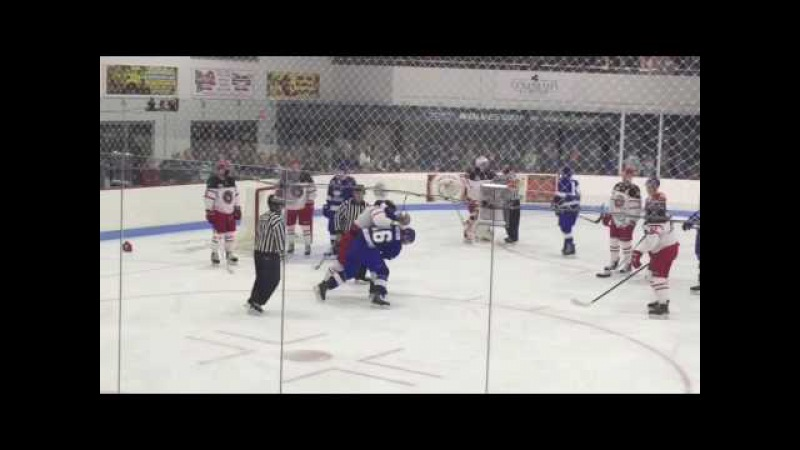 Fight at the Watertown Wolves Port Huron Prowlers game