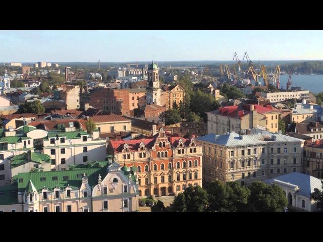 Панорама Выборга с башни замка Vyborg Castle Panorama