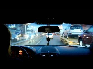 Porsche Cayenne GTS VS VAZ 2112 Шашки по москве! |