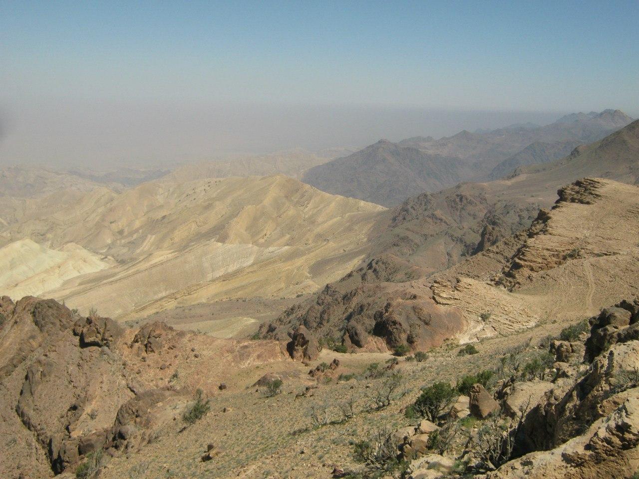 Горы в Иордании много бедуинов