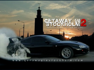 (HD) Getaway In Stockholm 2 - Toyota Supra and Escort Cosworth illegal street race and police chase