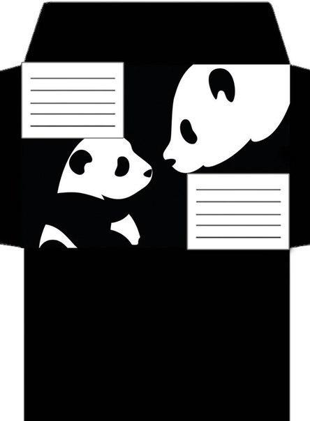 Конверты в лд картинки черно белые