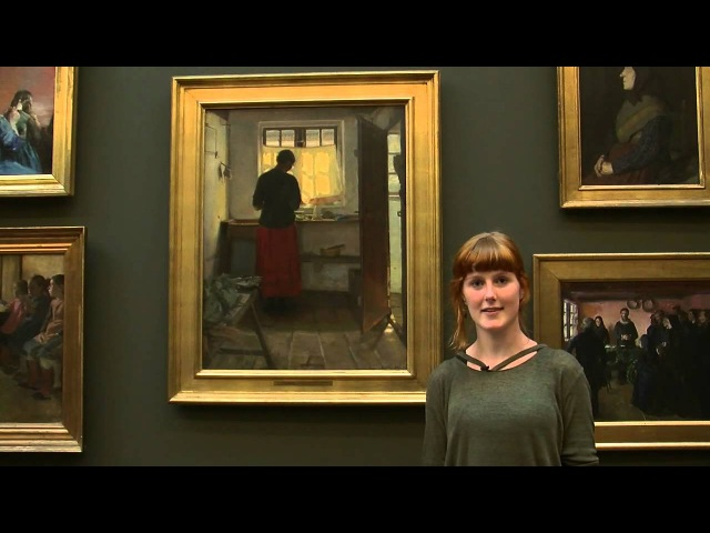 Dorothea Saabye tells about Anna Anchers painting The maid in the kitchen