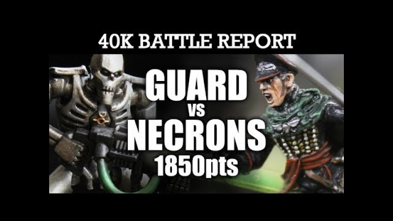 Imperial Guard vs Necrons Warhammer 40k Battle Report RADAR STATION! 6th Edition 1850pts | HD Video