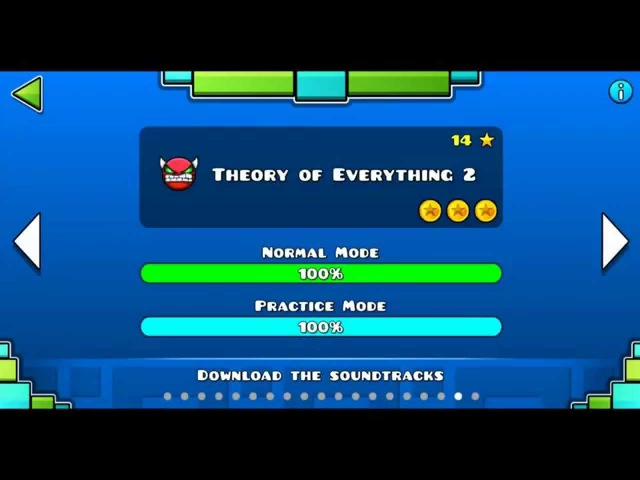 Geometry dash level 18 Theory of Everything 2 100%