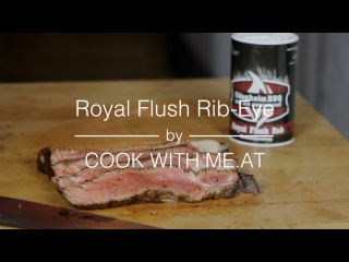 """Royal Flush Rib-Eye-Steak - Grilled on the """"Sizzle Zone"""" - COOK WITH"""