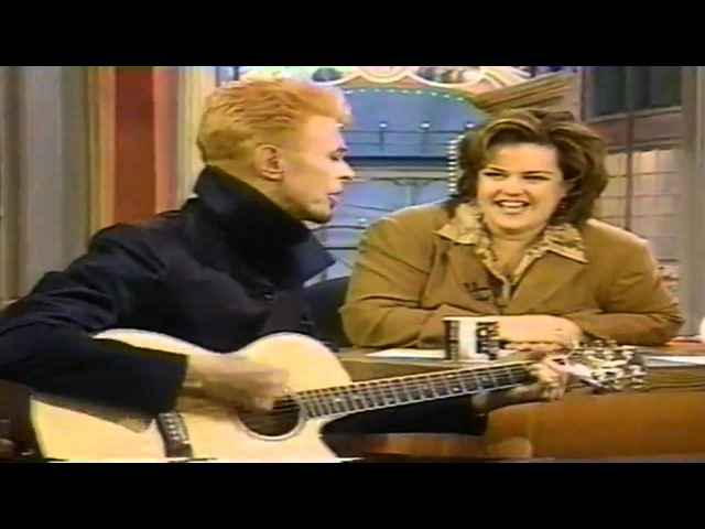 David Bowie and Iman on Rosie O Donnell Show 1997