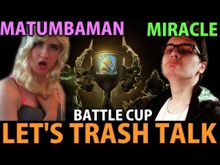 Miracle- Dota2 Battle Cup Huskar Let's Trash Talk with Team Liquid