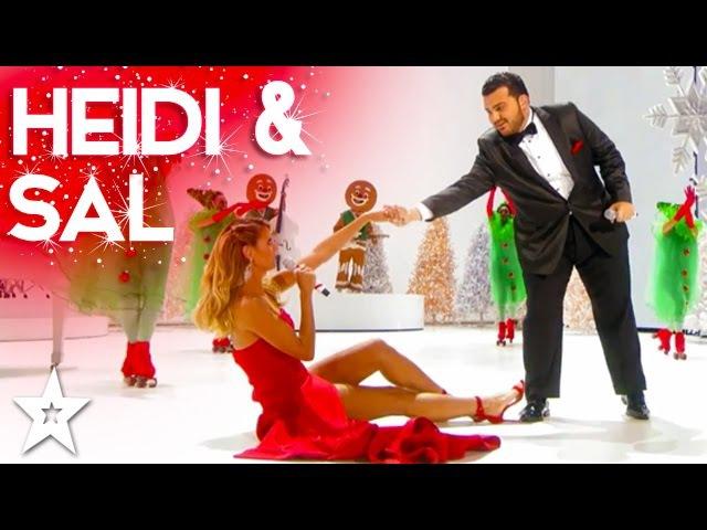 Heidi Klum Performs Santa Baby Duet with Sal Valentinetti   Holiday Spectacular!