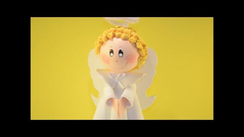 Como fazer fofucho anjo natalino em EVA, enfeite natalino. Como hacer ángel. How to make angel