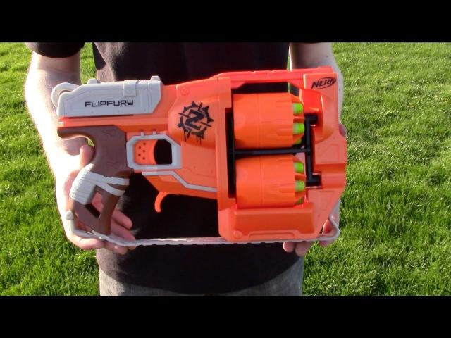 Nerf ZombieStrike Flipfury - Range Test (Stock)