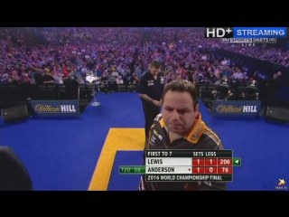 Gary Anderson vs Adrian Lewis (PDC World Darts Championship 2016 / Final)