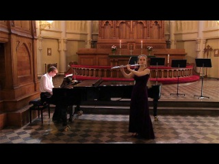 Claude Debussy. Beau Soir. Flute and piano