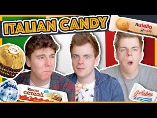 BRITISH TWINS TRYING ITALIAN CANDY & SNACKS ft. MyNamesChai   NikiNSammy
