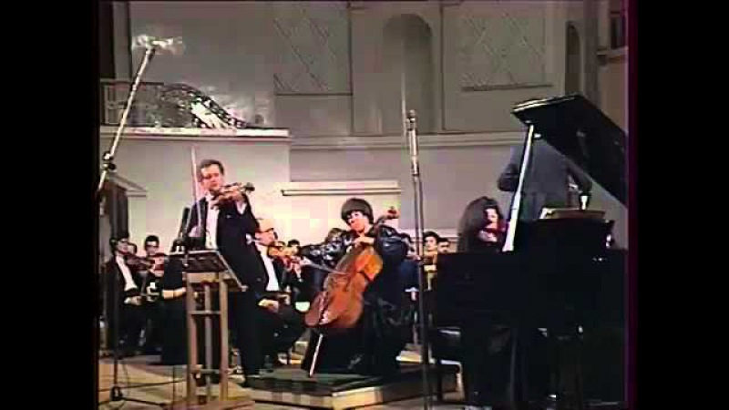 Eliso Virsaladze Oleg Kagan Natalia Gutman play Beethoven Triple Concerto video