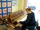 Loom work 002, Weaving a rag rug