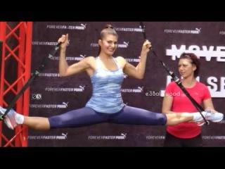 Jacqueline Fernandez Hot Workout Session At Puma Launch