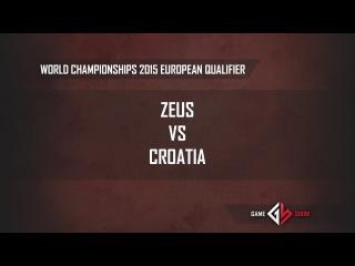 World Championships 2015 European Qualifier: Zeus vs. Croatia