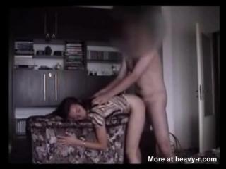 Father fucks his daughter schoolgirl on hidden camera