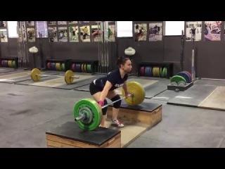 Alyssa Sulay Block Snatch 82kg at 63kg Bodyweight
