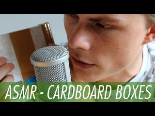 ASMR - Cardboard Box Tapping & Scratching - with Male Whispering