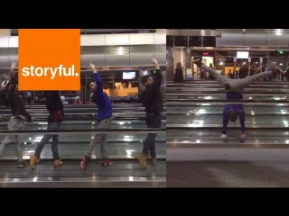 Ballet Troupe Beat Airport Delay With Impromptu Performance (Storyful, Funny)