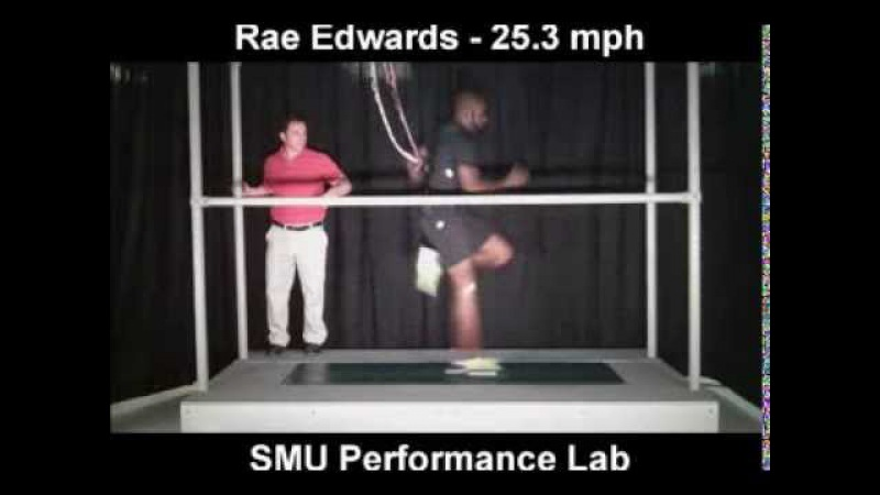 Monzavous Edwards Breaks Locomotor Performace Lab Record at 25 3 mph